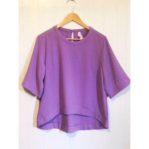 NWT Melissa McCarthy Seven7 Light Purple Blouse